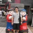 北京の繁華街、ワンフーチンにて