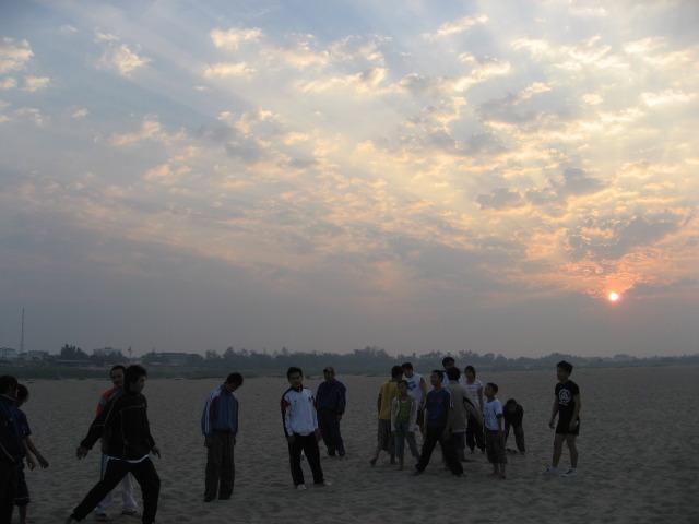 メコン川の朝焼け