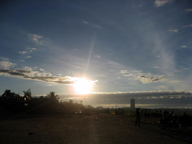メコン川沿岸からの初日の出2