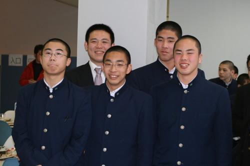 平成20年度 中学卒業生と山田先生